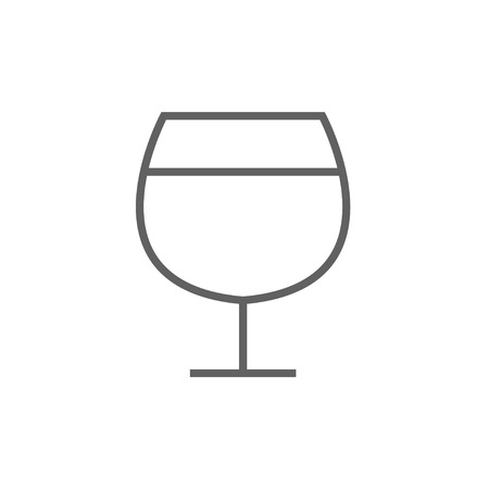 brandy: Glass of wine thick line icon with pointed corners and edges for web, mobile and infographics. Vector isolated icon. Illustration