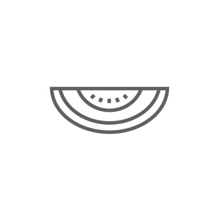 Melon thick line icon with pointed corners and edges for web, mobile and infographics. Vector isolated icon. Stock Vector - 53724028