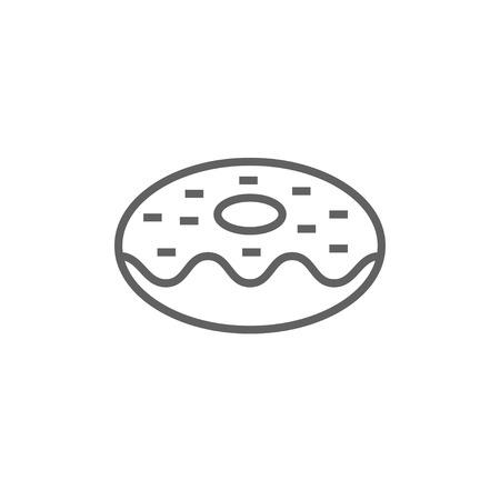 尖った角と web、モバイル、インフォ グラフィックのエッジを持つドーナツ太い線アイコン。ベクトル分離アイコン。  イラスト・ベクター素材