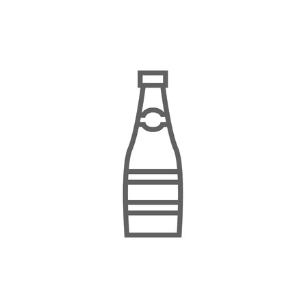 Glass bottle thick line icon with pointed corners and edges for web, mobile and infographics. Vector isolated icon. 版權商用圖片 - 53725222