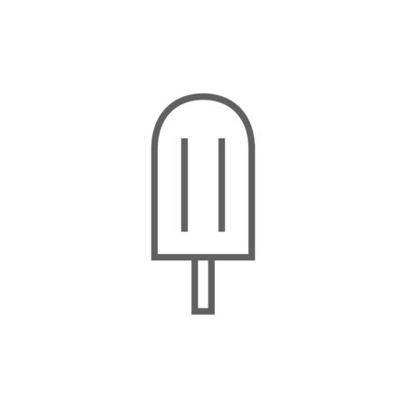 Popsicle thick line icon with pointed corners and edges for web, mobile and infographics. Vector isolated icon.