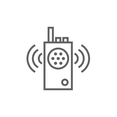 transmit: Radio set thick line icon with pointed corners and edges for web, mobile and infographics. Vector isolated icon. Illustration