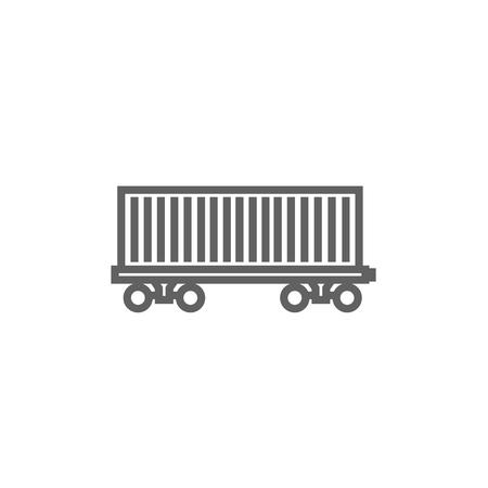 Cargo wagon dikke lijn icoon met puntige hoeken en randen voor het web, mobiel en infographics. Vector geïsoleerde pictogram.