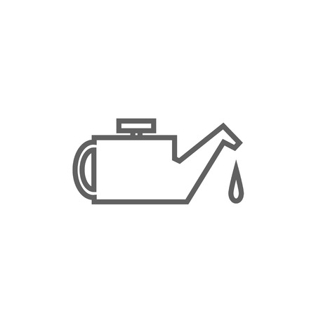 petrochemistry: Oiler thick line icon with pointed corners and edges for web, mobile and infographics. Vector isolated icon.