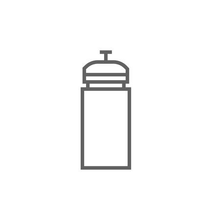 non alcoholic: Sport water bottle thick line icon with pointed corners and edges for web, mobile and infographics. Vector isolated icon. Illustration