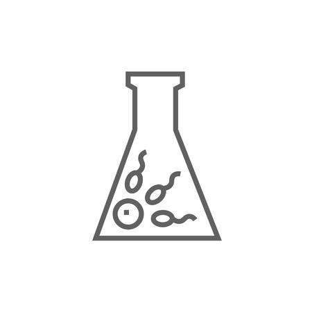 La fécondation in vitro icône de la ligne épaisse avec des coins pointus et des bords pour le web, le mobile et infographies. Vector icône isolé. Banque d'images - 53726018