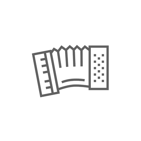 Accordion thick line icon with pointed corners and edges for web, mobile and infographics. Vector isolated icon.