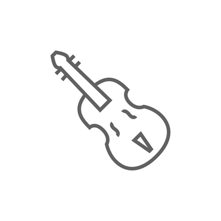 sounds: Cello thick line icon with pointed corners and edges for web, mobile and infographics. Vector isolated icon.