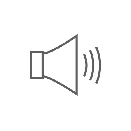 Speaker volume thick line icon with pointed corners and edges for web, mobile and infographics. Vector isolated icon.