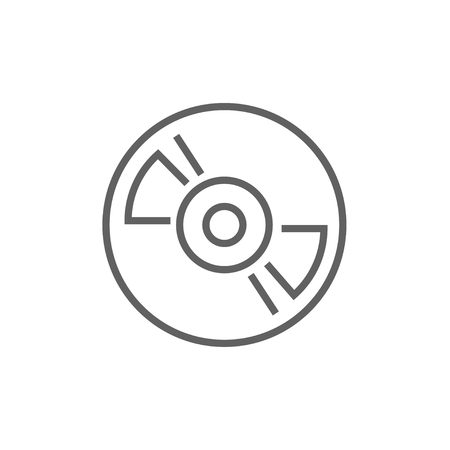 hi fi: Reel tape deck player recorder line icon for web, mobile and infographics. Vector dark grey icon isolated on white background.