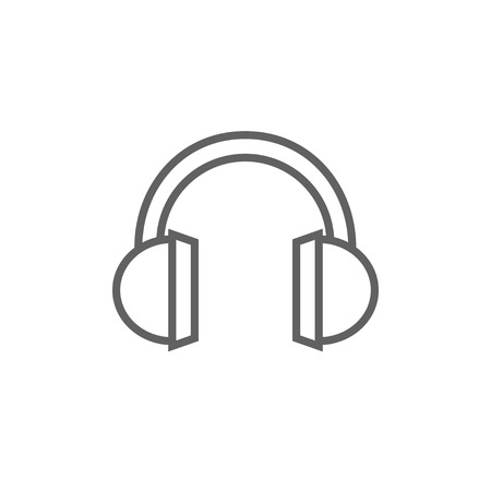 earpieces: Headphone thick line icon with pointed corners and edges for web, mobile and infographics. Vector isolated icon.