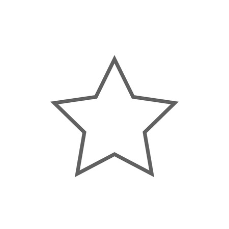 appraisal: Rating star thick line icon with pointed corners and edges for web, mobile and infographics. Vector isolated icon.