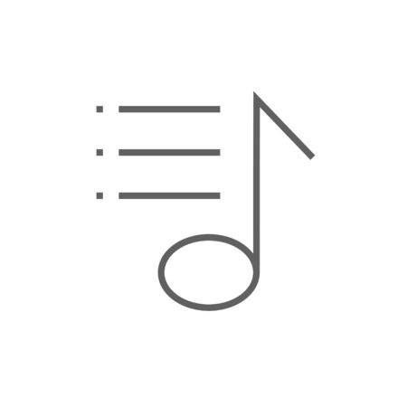 Musical note thick line icon with pointed corners and edges for web, mobile and infographics. Vector isolated icon. Illustration