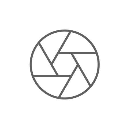 Kamera-Auslöser Linie Symbol für Web, Mobile und Infografiken. Vector dunkelgrau-Symbol auf weißem Hintergrund. Vektorgrafik