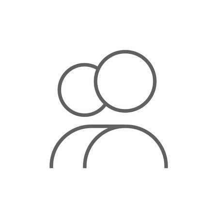user icon: People thick line icon with pointed corners and edges for web, mobile and infographics. Vector isolated icon.