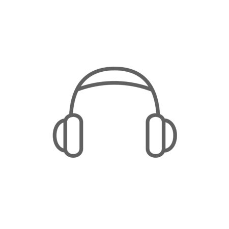 ear phones: Headphone thick line icon with pointed corners and edges for web, mobile and infographics. Vector isolated icon.