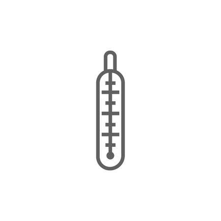 Medical thermometer thick line icon with pointed corners and edges for web, mobile and infographics. Vector isolated icon.
