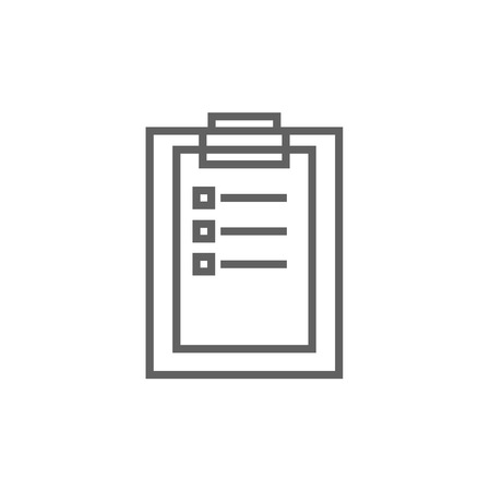 medical report: Medical report thick line icon with pointed corners and edges for web, mobile and infographics. Vector isolated icon. Illustration