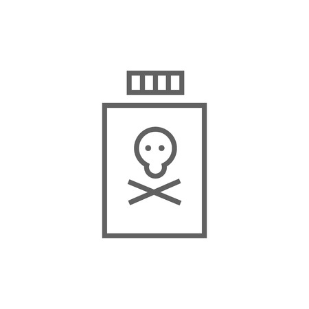 poison bottle: Bottle of poison thick line icon with pointed corners and edges for web, mobile and infographics. Vector isolated icon.