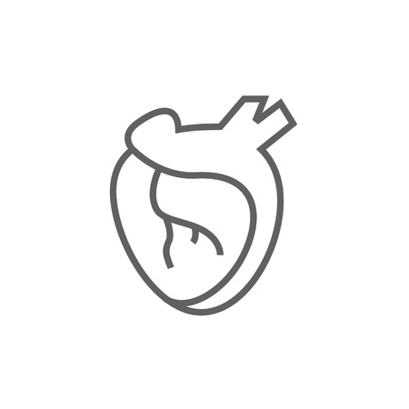 Heart thick line icon with pointed corners and edges for web, mobile and infographics. Vector isolated icon. Illustration
