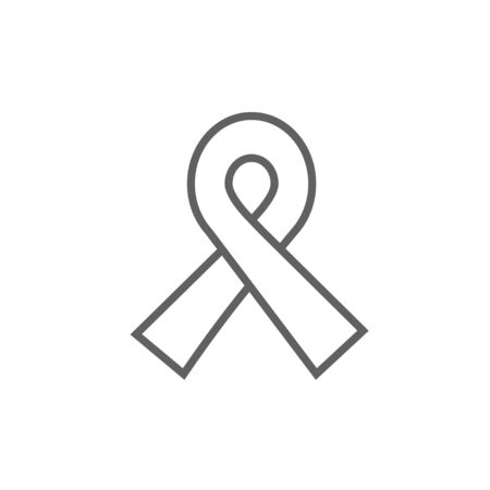 fund world: Ribbon thick line icon with pointed corners and edges for web, mobile and infographics. Vector isolated icon.