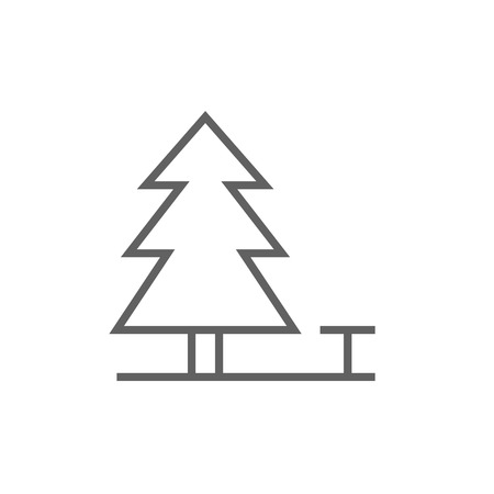 paysage: Landscape thick line icon with pointed corners and edges for web, mobile and infographics. Vector isolated icon.