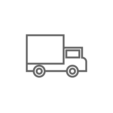 waggon: Delivery van thick line icon with pointed corners and edges for web, mobile and infographics. Vector isolated icon.