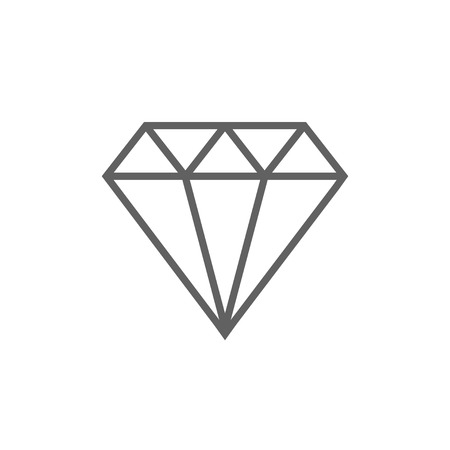 Diamond thick line icon with pointed corners and edges for web, mobile and infographics. Vector isolated icon. Illustration