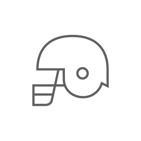 safeness: Hockey helmet thick line icon with pointed corners and edges for web, mobile and infographics. Vector isolated icon.
