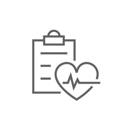 heartbeat line: Heartbeat record thick line icon with pointed corners and edges for web, mobile and infographics. Vector isolated icon. Illustration