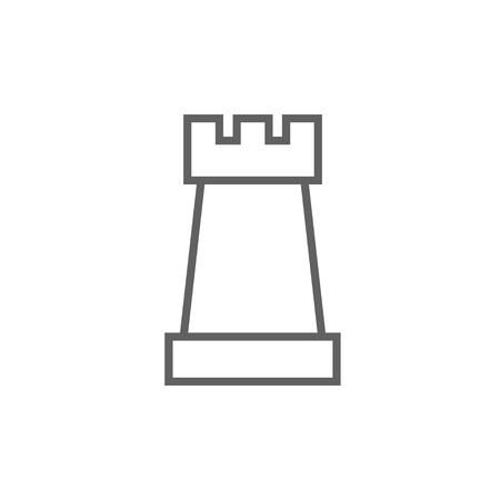 Schach dicke Linie Ikone mit spitzen Ecken und Kanten für Web, Mobile und Infografiken. Vector isoliert Symbol. Standard-Bild - 53750203