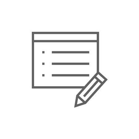 pen and paper: Notepad and pencil thick line icon with pointed corners and edges for web, mobile and infographics. Vector isolated icon.