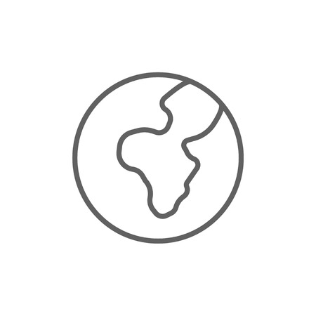 transnational: Globe thick line icon with pointed corners and edges for web, mobile and infographics. Vector isolated icon.