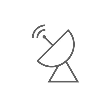 Radar satellite dish thick line icon with pointed corners and edges for web, mobile and infographics. Vector isolated icon.