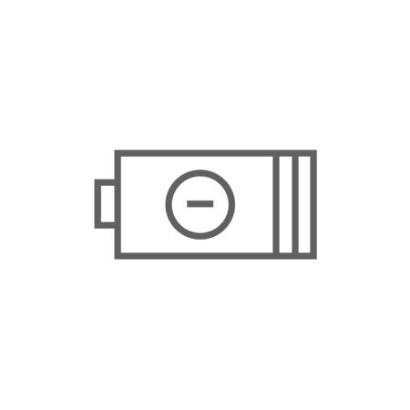 Low power battery thick line icon with pointed corners and edges for web, mobile and infographics. Vector isolated icon.