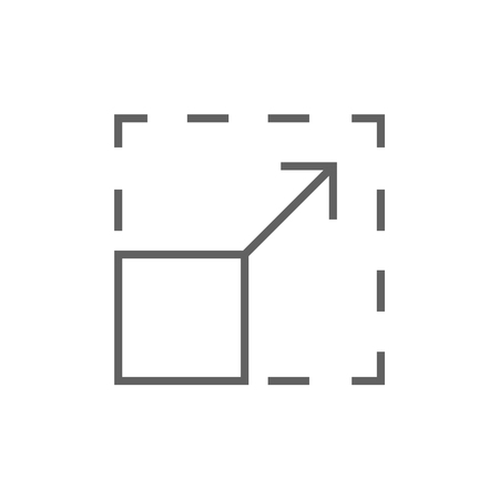 scalability: Scalability thick line icon with pointed corners and edges for web, mobile and infographics. Vector isolated icon.
