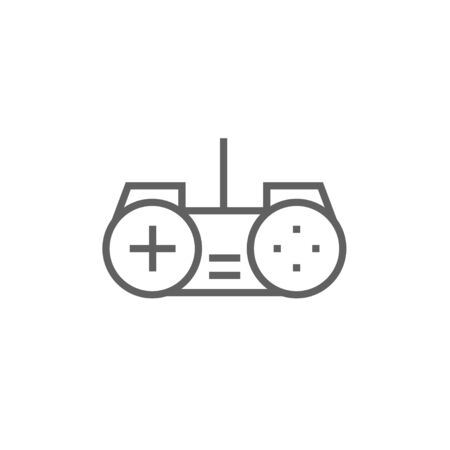 handheld device: Joystick thick line icon with pointed corners and edges for web, mobile and infographics. Vector isolated icon.