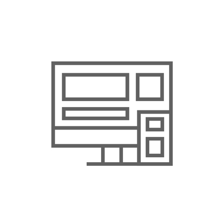 touchpad: Responsive web design thick line icon with pointed corners and edges for web, mobile and infographics. Vector isolated icon.