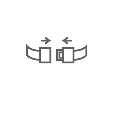 seat belt: Seat belt thick line icon with pointed corners and edges for web, mobile and infographics. Vector isolated icon. Illustration