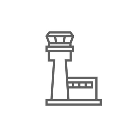 Flight control tower thick line icon with pointed corners and edges for web, mobile and infographics. Vector isolated icon. Stock fotó - 53758055
