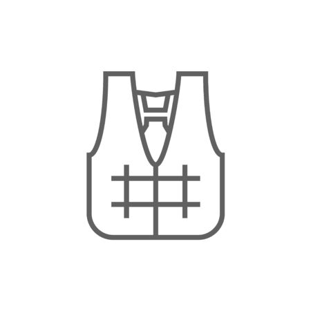 vest in isolated: Life vest thick line icon with pointed corners and edges for web, mobile and infographics. Vector isolated icon. Illustration