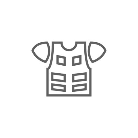 safeness: Motorcycle suit thick line icon with pointed corners and edges for web, mobile and infographics. Vector isolated icon.