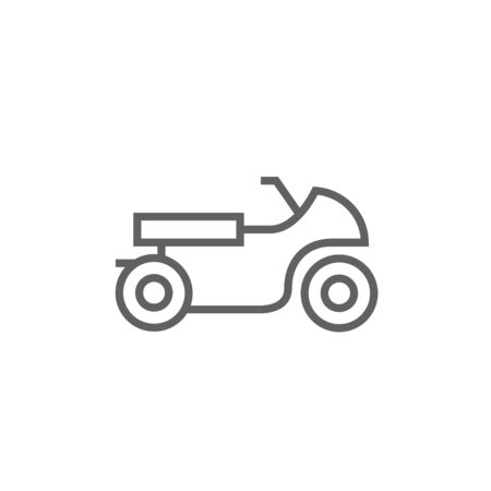 two wheel: Motorcycle thick line icon with pointed corners and edges for web, mobile and infographics. Vector isolated icon.