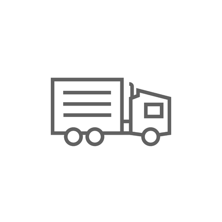 waggon: Delivery truck thick line icon with pointed corners and edges for web, mobile and infographics. Vector isolated icon.