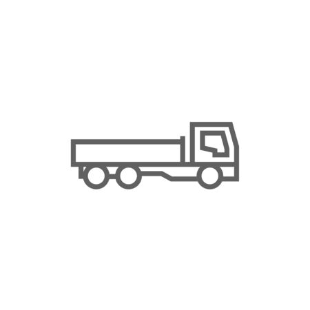 Dump truck thick line icon with pointed corners and edges for web, mobile and infographics. Vector isolated icon. Illusztráció
