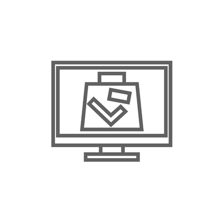 x ray machine: Suitcase at x-ray airport scanner thick line icon with pointed corners and edges for web, mobile and infographics. Vector isolated icon.