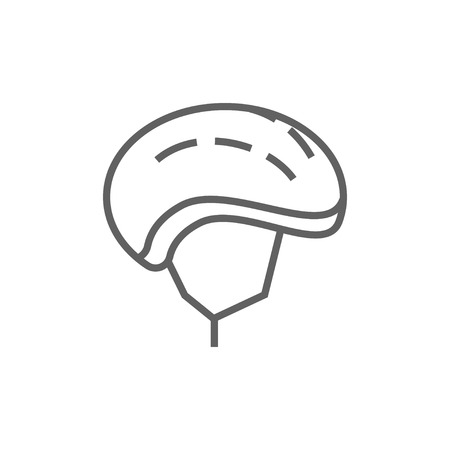 Bicycle helmet thick line icon with pointed corners and edges for web, mobile and infographics. Vector isolated icon.