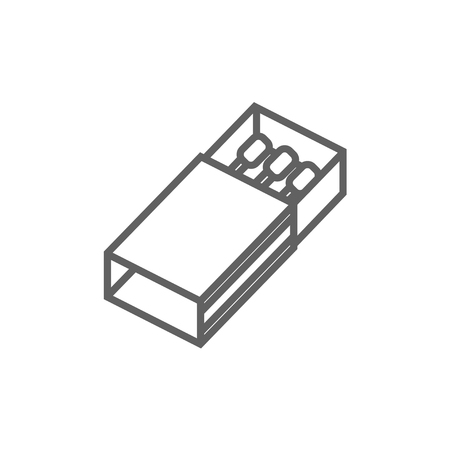 matchbox: Matchbox line icon for web, mobile and infographics. Vector dark grey icon isolated on white background.