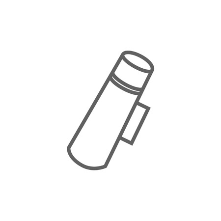 thermos: Thermos thick line icon with pointed corners and edges for web, mobile and infographics. Vector isolated icon.