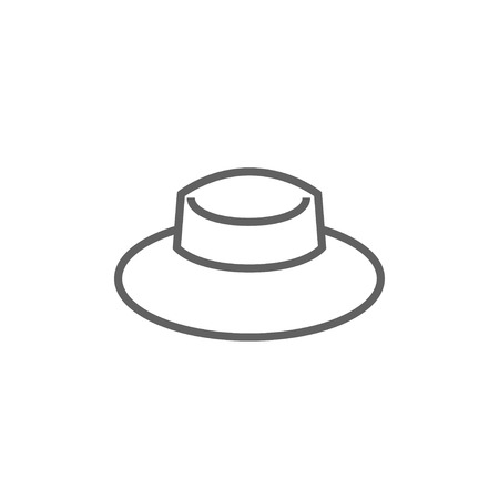 Summer hat thick line icon with pointed corners and edges for web, mobile and infographics. Vector isolated icon. Ilustração